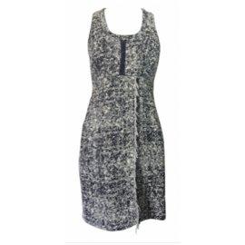 Proenza Schouler-Dress-Black,Beige,Eggshell