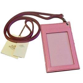 Hermès-Porte Badge-Rose