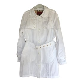 Burberry-Trench coats-White
