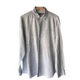Etro-Chemise etro fonds cachemir gris-Gris