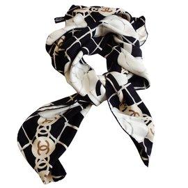Chanel-Carré Chanel  les camélias-Noir