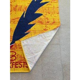 Autre Marque-Grand drap de plage ou drap de  bain 110 x 155 cm imprimé à Lyon-Rouge,Bleu,Orange,Jaune
