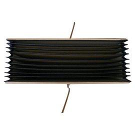 Autre Marque-Classeur trieur Design PINETTI bois et cuir-Noir,Beige