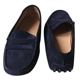 Tod's-Oxfords Loafers-Navy blue