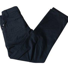 Burberry-Pants-Black,Navy blue
