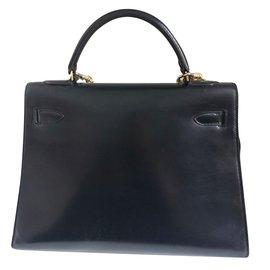 Hermès-Kelly 32 en cuir box-Noir