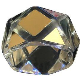 Max Mara-Plexi Glass  cubique-Doré