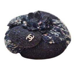 Chanel-Camélia Chanel-Bleu Marine