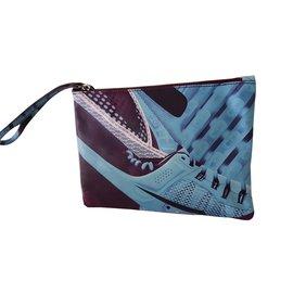 75489cfe32 Mary Katrantzou-purple leather clutch bag-Purple ...