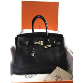 Hermès-Birkin 35 noir-Noir