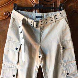 Burberry-Pants, leggings-Beige