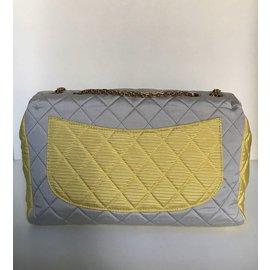 """Chanel-Superbe & Rare Sac """"2.55"""" en nylon tricolore matelassé-Multicolore"""