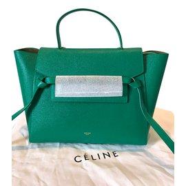 Céline-mini belt green-Vert