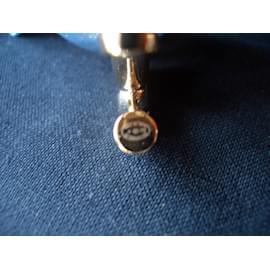 Chanel-Boucle d'oreilles CC-Argenté