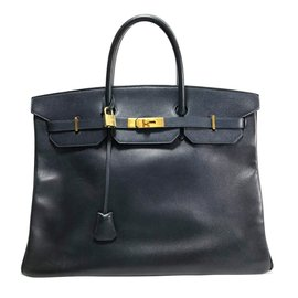 Hermès-Birkin 40-Navy blue