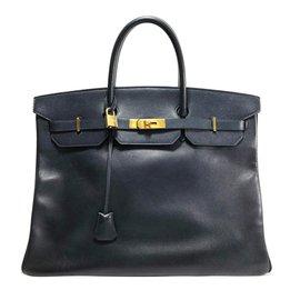 Hermès-Birkin 40-Bleu Marine