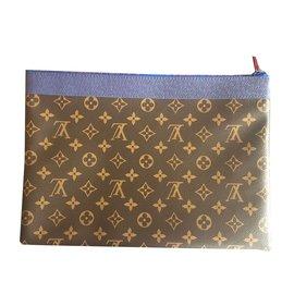 Louis Vuitton-Pochette clutch Apollo-Marron