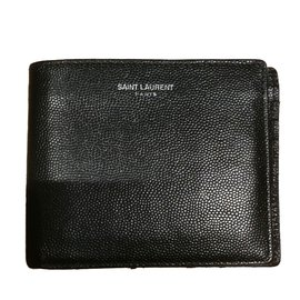 Yves Saint Laurent-Porte feuille saint Laurent noir-Noir