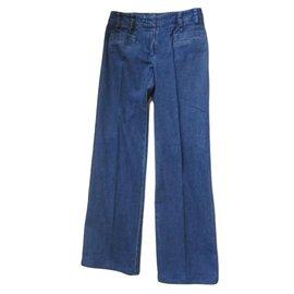 Chanel-Pants, leggings-Blue