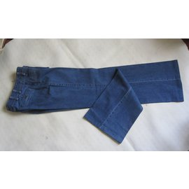 Chanel-jean large-Bleu