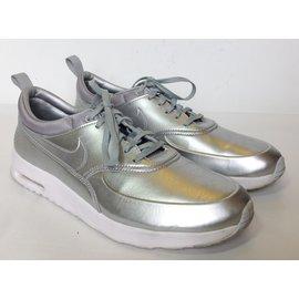 Nike-air max thea-Silvery,Metallic