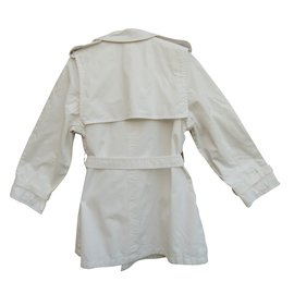 Hermès-Trench coats-White