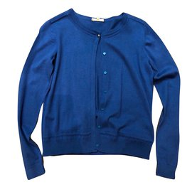 Chloé-Pulls, gilets fille-Bleu