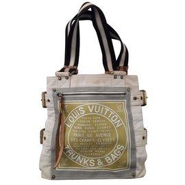 Louis Vuitton-Édition Limitée - Globe Cabas Shopper Trunks PM Cabas-Marron,Beige