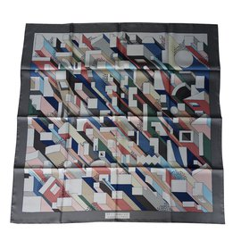 """Hermès-foulard/carre hermes neuf """"on a summer day""""-Multicolore"""
