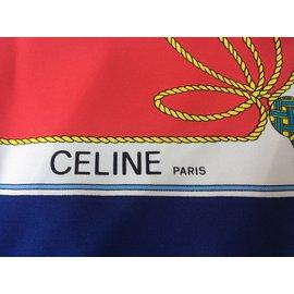 Céline-Carré rare-Bleu,Vert,Jaune