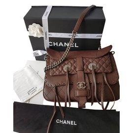 Chanel-Sac Métiers d'Art Paris-Dallas 2014-Marron foncé