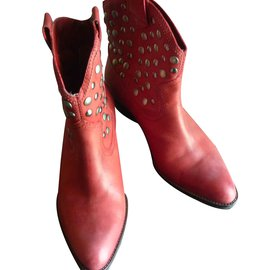 Minelli-Bottines-Rouge