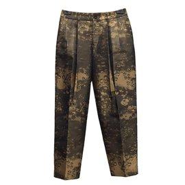 Issey Miyake-Pantalons-bronze