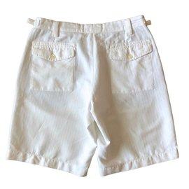 Massimo Dutti-Bermuda coton blanc-Blanc