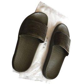 Zara-Sandals-Green