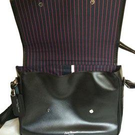 c7f37402c75 Autre Marque-Messenger leather bag-Black ...