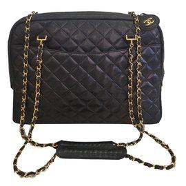 Chanel-sac timeless model caméra-Noir