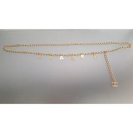 Chanel-ceinture en chaine dorée-Doré