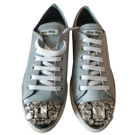 Miu Miu-Baskets-Gris