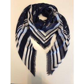 Chanel-foulard-Bleu Marine