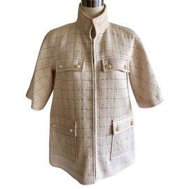 Chanel-Coats, Outerwear-Flesh