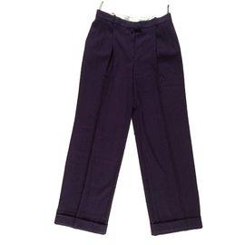 Christian Dior-Pantalons-Violet