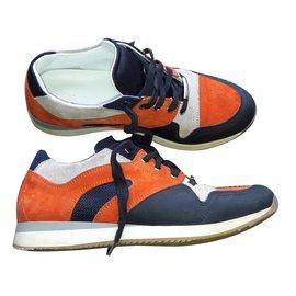 Dior-Baskets orange-Blanc,Orange,Bleu Marine