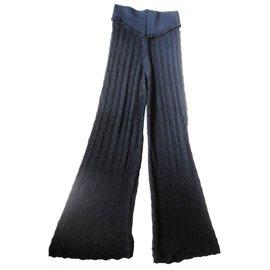 Givenchy-pantalon en jersey dentelle/guipure-Noir