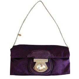 bbdfc53351fd Tod s-purple satin crystal clutch-Purple ...