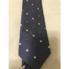 Bulgari-Cravate bulgari soie-Bleu Marine