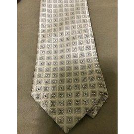 Chanel-Cravate chanel soie-Beige