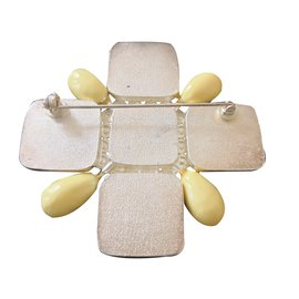 Chanel-BROCHE JAUNE-Jaune