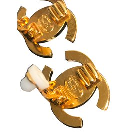 Chanel-Clips Turn Lock avec strass Swarovski-Doré