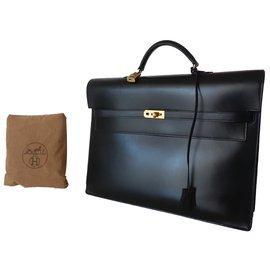 Hermès-SAC A DEPECHES KELLY-Noir